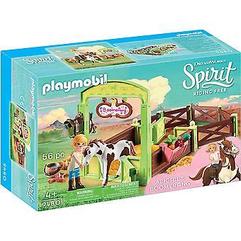 Playmobil-heste æske-Abigail og boomerang legetøj