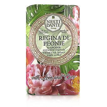 Nesti Dante Triple Milled Vegetal Soap With Love & Care - Regina Di Peonie - 250g/8.8oz