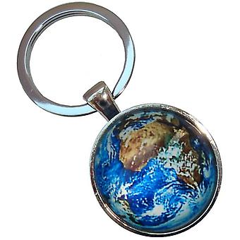Bassin and Brown Earth Key Ring - Blue/Green