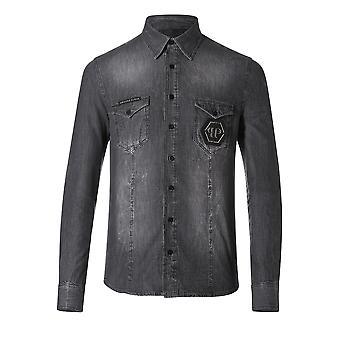 Overhemd Denim Full - Philipp Mdp0036 volledige