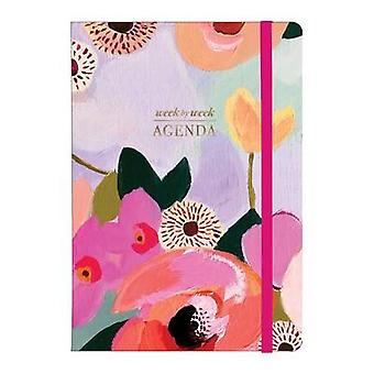 Painted Petals Gilded Planner by K. T. Smail