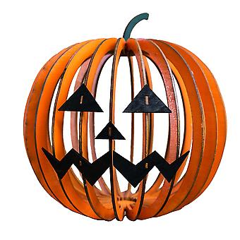Crafts - jack o lantern - model kit raw wood 9x9x9in