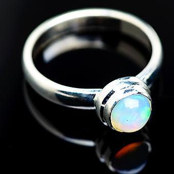 Natural Ethiopian Opal Ring Size 9 (925 Sterling Silver)  - Handmade Boho Vintage Jewelry RING983982