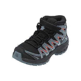 Salomon XA PRO 3D MID CSWP K Kids Chaussures de football Chaussures de sport noires