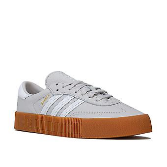 Womens adidas Originals Sambarose Trainers In Grey One / Chaussures Blanches