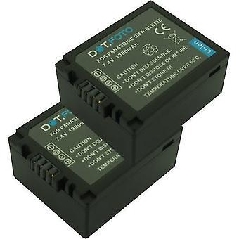 2 x Dot.Foto Panasonic DMW-BLB13, DMW-BLB13E, DMW-BLB13PP vervangende batterij - 7.4V / 1300mAh