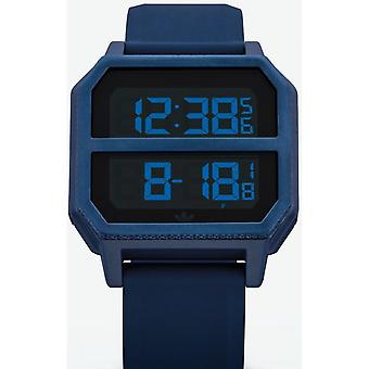 Adidas Originals Watch Z16-605-00 - ARCHIVE-R2 Silicone Blue Box And Steel Blue Carr Men/Women