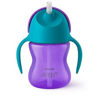 Avent Drinking Cup With Straw 200Ml - Purple