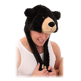 Damen Webpelz Neuheit Mütze-Schal In Bear Design Warm Winter Thermal Mode Hut