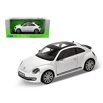 2012 Volkswagen New Beetle White 1/18 Diecast Auto Modell von Welly
