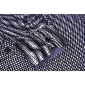 Alex Vando Mens Printed Dress Shirts Long Sleeve Regular, Blue6552, Size Small