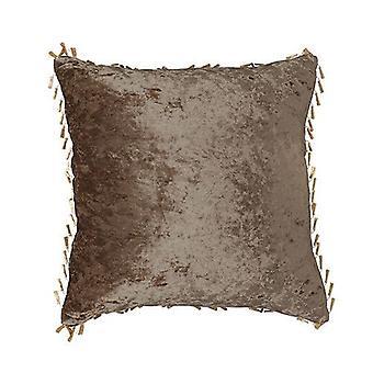 Coussins de velours écrasés au chocolat 18-quot; 45cm Couverture fourrée avec Pad Scatter S