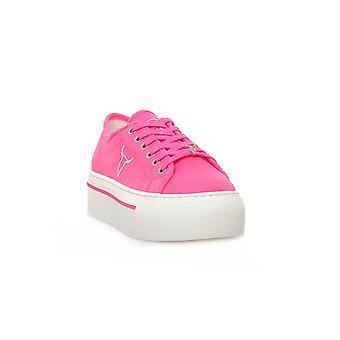 Windsor smith ruby canvas neon pink sneakers fashion