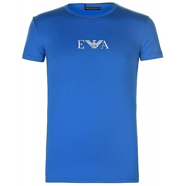 Armani Jeans Emporio Armani Crew Neck Slim Fit T-Shirt Mens Blue