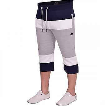 360 Degrees Mens MX 360 Degrees Long Cargo Fleece 3/4 Three Quarter Length Shorts Casual Pockets