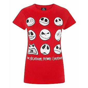 Nightmare Before Christmas Jack Expressions Women's T-Shirt