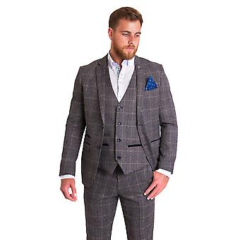 Marc Darcy Scott Grey Tweed Check Suit Jas