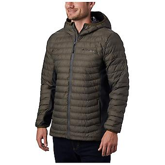 Columbia Olive Mens Powder Pass Hooded Jacket