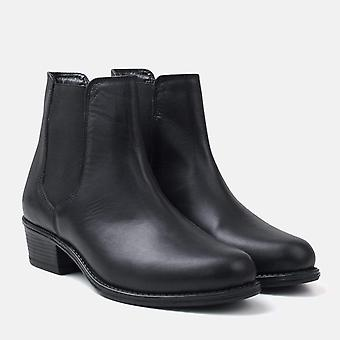 Rosary black leather chelsea boot