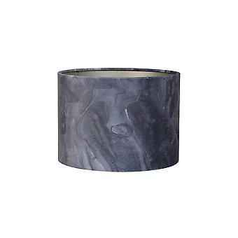 Licht & Living Zylinder Schatten 40x40x30cm Marmor dunkelgrau