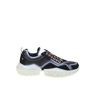 Jimmy Choo Diamondmpiublack Män's Black Leather Sneakers