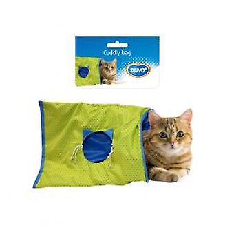 Duvo + plat pour chats Tunnel bleu (chats, jouets, Tunnels)