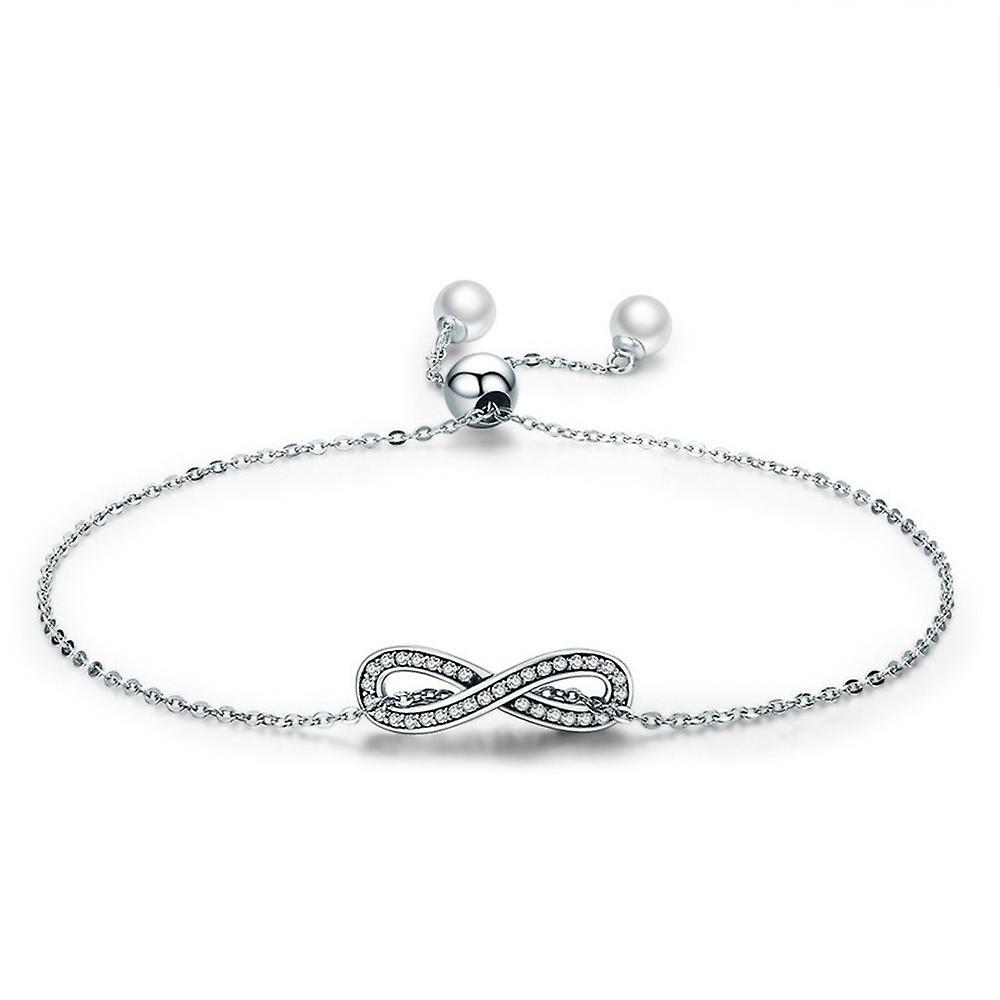 Bracelet Femme Infini orné de Cristal de Swarovski, Perle et Argent 925 8349
