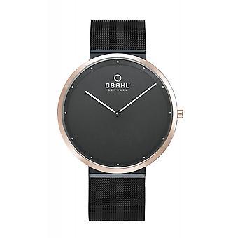 Obaku Papir Night Men's Wristwatch V230GXMBMBMB