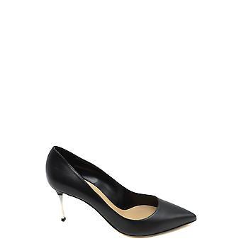 Sergio Rossi Ezbc040021 Femmes-apos;s Black Leather Pumps