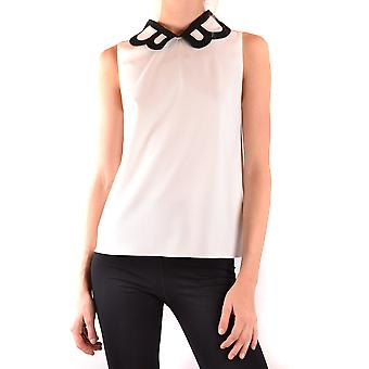 Boutique Moschino Ezbc1700023 Women's White Polyester Top