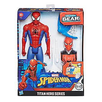 Marvel Spider-Man Titan Hero Figura Spider-Man con Blast Gear Louncher 30cm