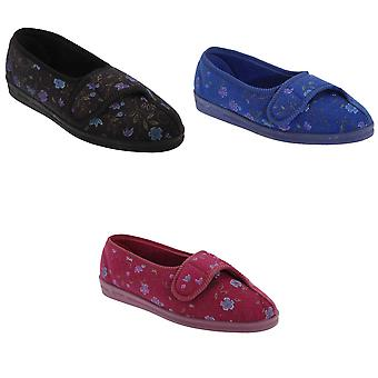 Comfylux Womens/Ladies Diana Floral Slippers
