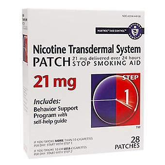 Habitrol nicotine transdermal system patch, 21 mg, step 1, 28 ea