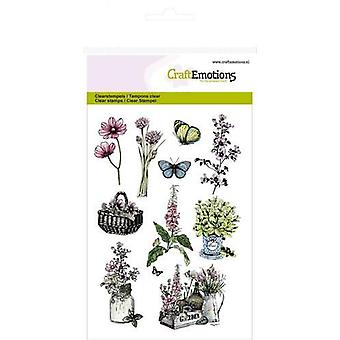 CraftEmotions Clear Stamps A6 - herbs basket, crate Life and Garden