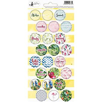 Piatek13 - Sticker sheet Party Let's flamingle 02 P13-291 10.5x23 cm