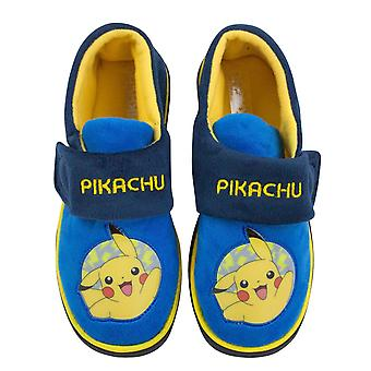 Pokemon Pikachu Character Blue Boy's Slippers