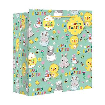 Eurowrap Wide Gusset Easter Gift Bags (Pack of 12)