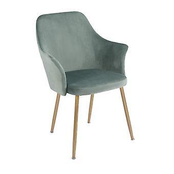 Wood4you - Velvet 2 grüner Essstuhl - Pariso - Low - Sitzhöhe: 41 cm - 2 Stück