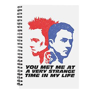 Fight Club You Met Me At A Very Strange Time In My Life Spiral Notebook