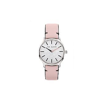 Ted Baker Watches Grey Dial Pink Soft Pebbled Leather Ladies Watch BKPPOF903