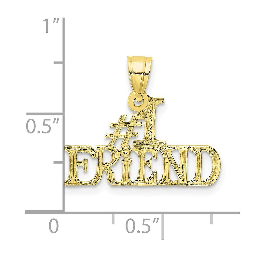 10k Gold Number 1 Friend Pendant Necklace Jewelry Gifts for Women - .6 Grams