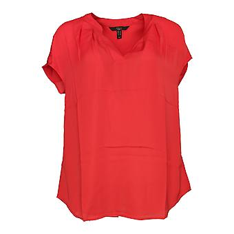 G.I.L.I. got it love it Women's Top Extended Shoulder Blouse Red A288469