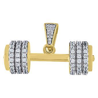 925 מ10.18 gm כסף צהוב משקולית לגברים תליון קסם שרשרת מדדים 20x 33.4 mm תכשיטים רחבים מתנות לגברים