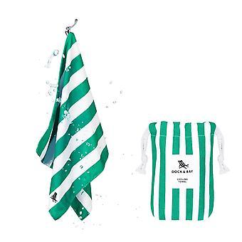 Dock & bay quick cool gym towel - cancun green