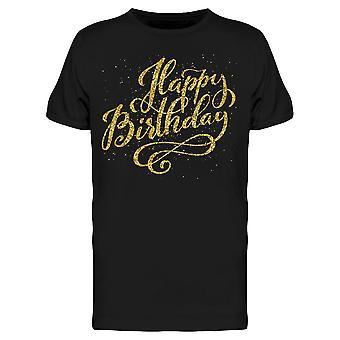عيد ميلاد الذهبي الجرونج تي الرجال & ق -الصورة من قبل Shutterstock