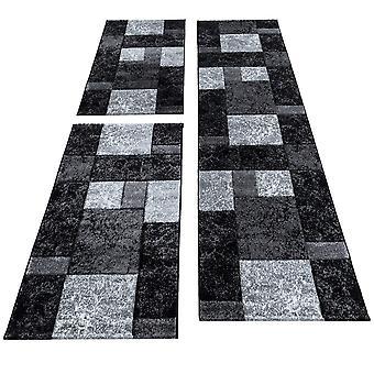 Borde de la cama corto flor alfombra a cuadros contorno cortado alfombra residencial gris moteado
