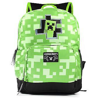 """Minecraft creeper sisällä reppu lasten vihreä koulu laukku pojille reppu 18"""""""