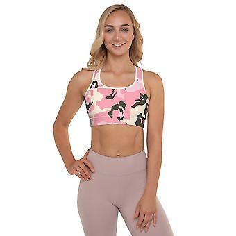 بطن الرياضة حمالة الصدر | التمويه الوردي