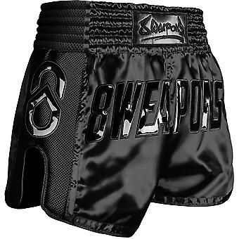 8 armi Super Mesh Muay Thai Pantaloncini Neri