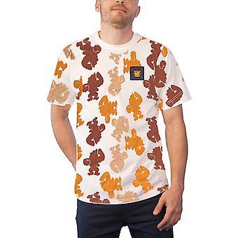 Donkey Kong T Shirt partout Print Logo nouveau officiel Mens Black